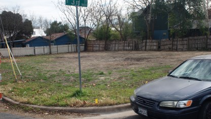 large empty corner lot