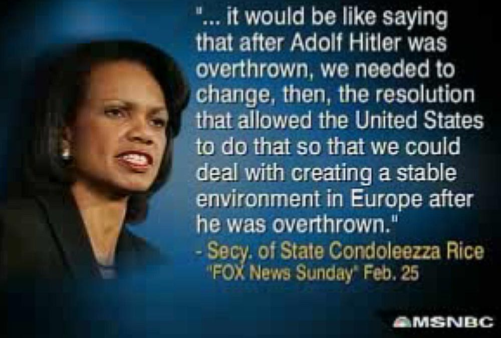 Keith Olbermann's 'Special Comment' on Condoleezza Rice