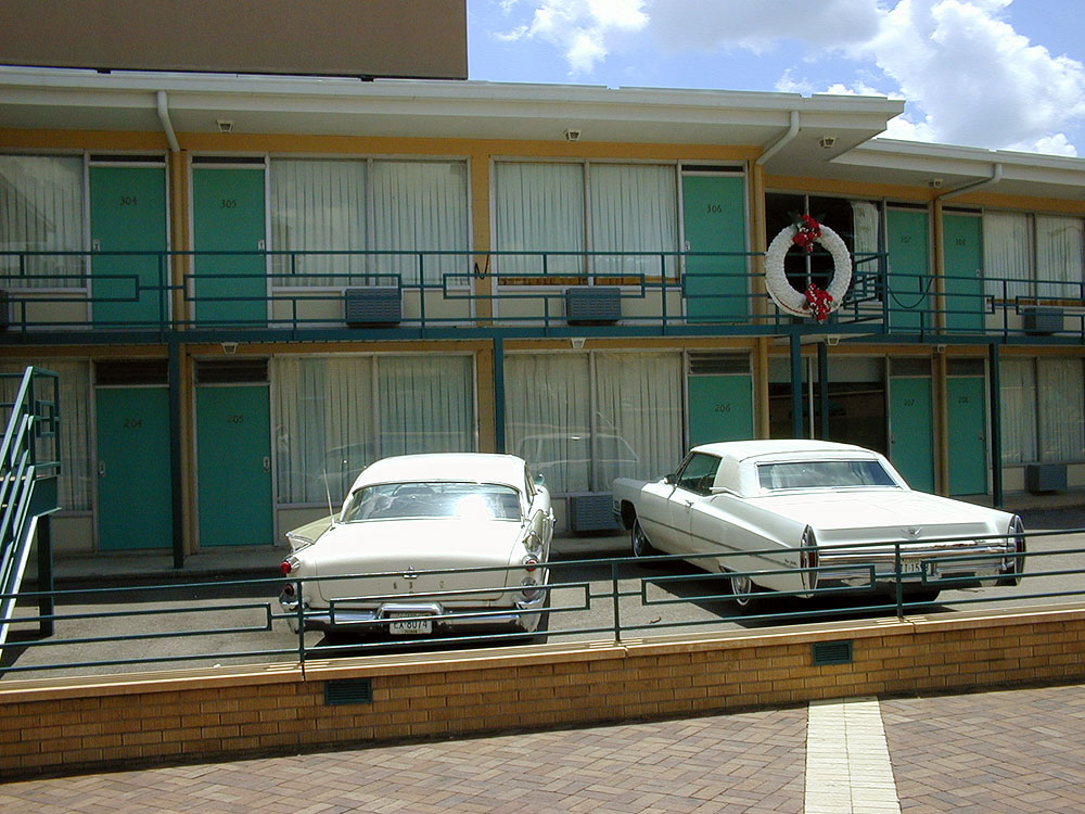 The former Lorraine Motel, where Martin Luther King, Jr. was shot and killed, now houses the National Civil Rights Museum