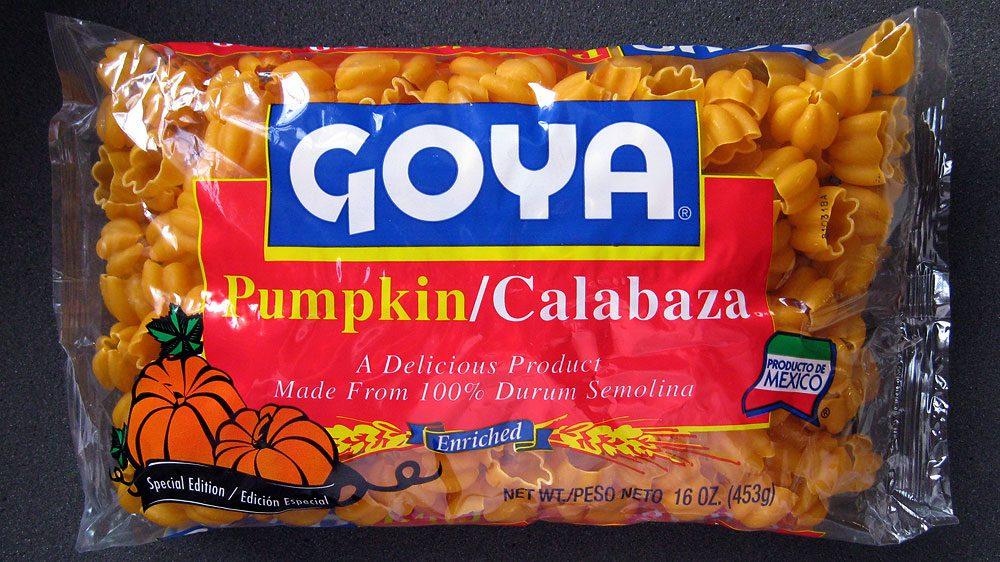 Goya pasta pumpkins