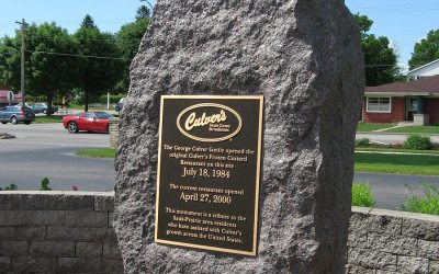 First Culver's restaurant monument: Sauk City, Wisconsin