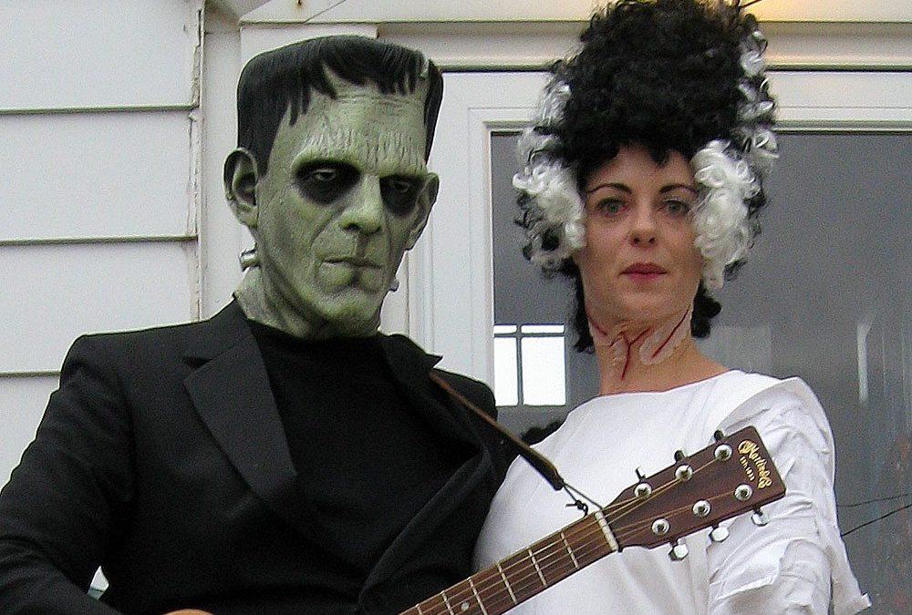 Halloween costumes: Frankenstein, Bride of Frankenstein
