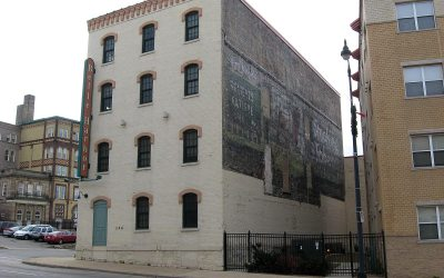 Bull Durham ghost sign: Belle Harbor Lofts, Racine