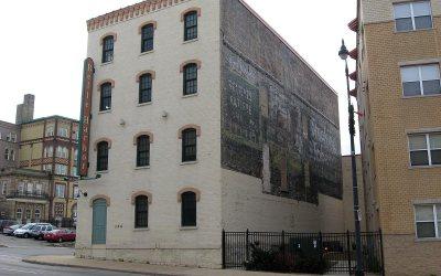 Bull Durham ghost sign: Belle Harbor Lofts, Racine