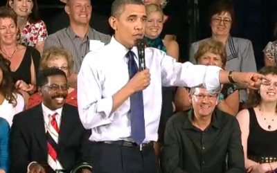 Memorial Hall in Racine: Barack Obama Town Hall Meeting