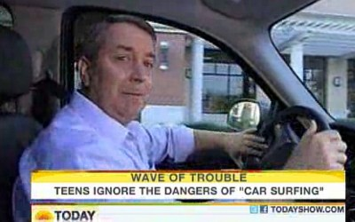NBC's Kerry Sanders reporting live while driving