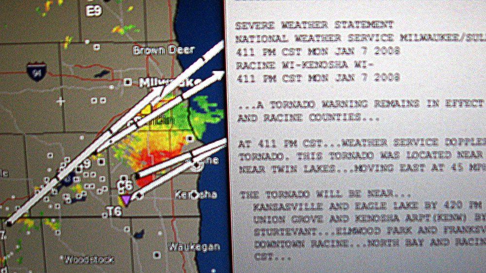 Tornado in Kenosha, Wisconsin: January 7, 2008