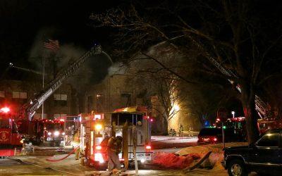 Mitchell School fire in Racine, Wisconsin: Video, photos