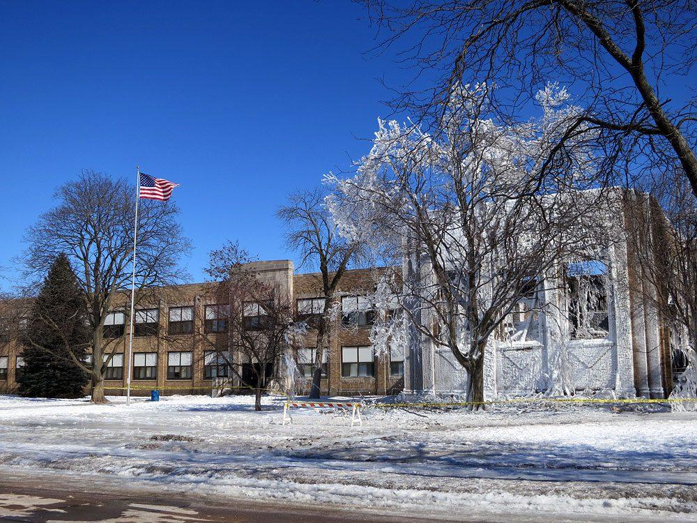 Racine, WI: Mitchell School, post-fire
