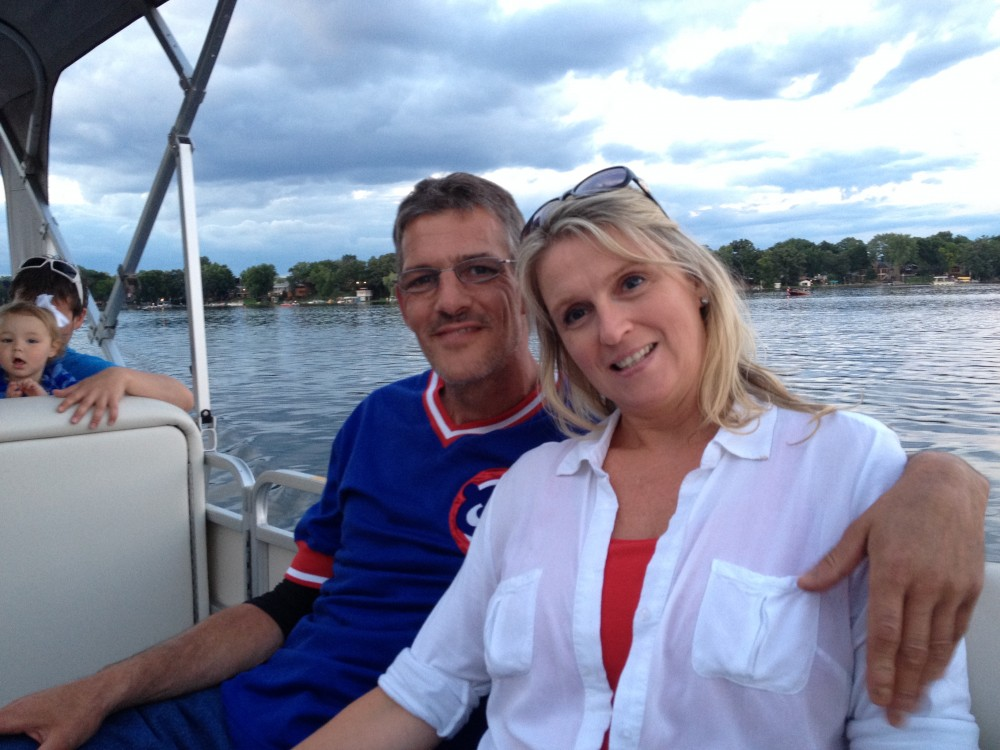 Bob & Bridgett on Paddock Lake in Wisconsin