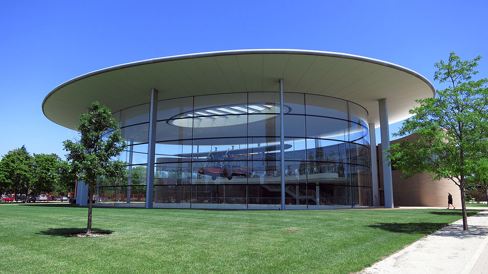 SC Johnson headquarters (Racine, WI): Fortaleza Hall building