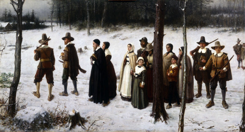 Pilgrims Going to Church, by George Henry Boughton
