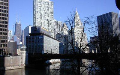Chicago Sun-Times Building, Wabash Avenue Bridge