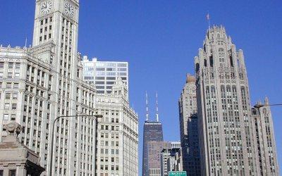 N Michigan Avenue from Wacker Drive