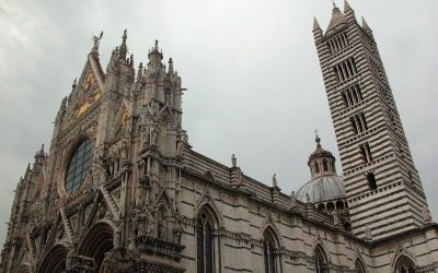 Siena Cathedral with bell tower, Siena, Italy