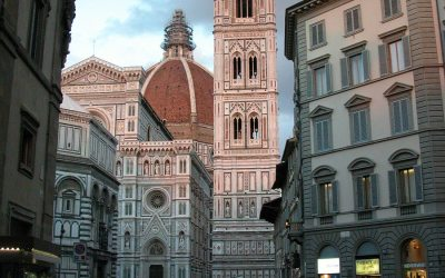Giotto's Campanile at dusk, Florence, Italy