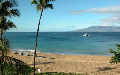 Kaanapali Beach from Sheraton Maui Resort, Hawaii