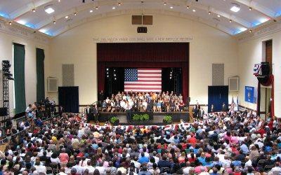 Memorial Hall: President Barack Obama in Racine, Wisconsin