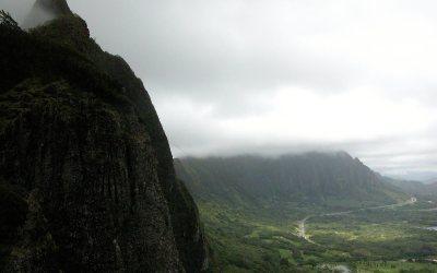 Nu'uanu Pali Lookout: Ko'olau Range mountains, Oahu