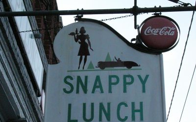 Snappy Lunch restaurant sign, Mount Airy NC