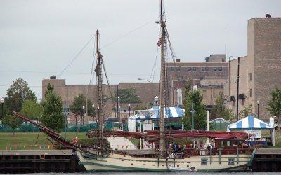 Tall ship at Tall Ships Festival, Kenosha, Wisconsin