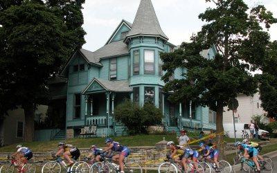 Victorian house, Waukesha, Wisconsin bike race