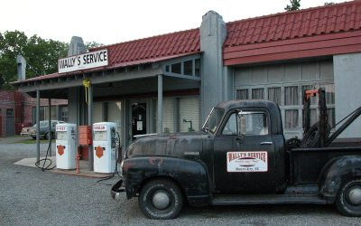 Wally's Service station, Mount Airy, North Carolina