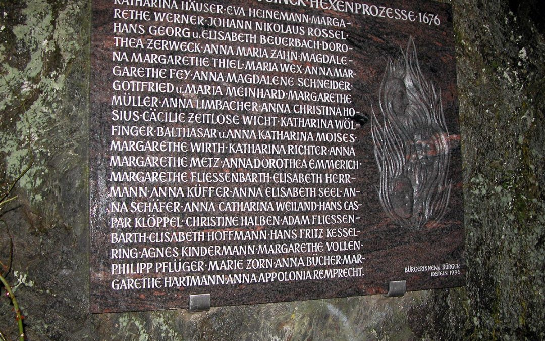 Witch hunt victims memorial, Idstein, Germany