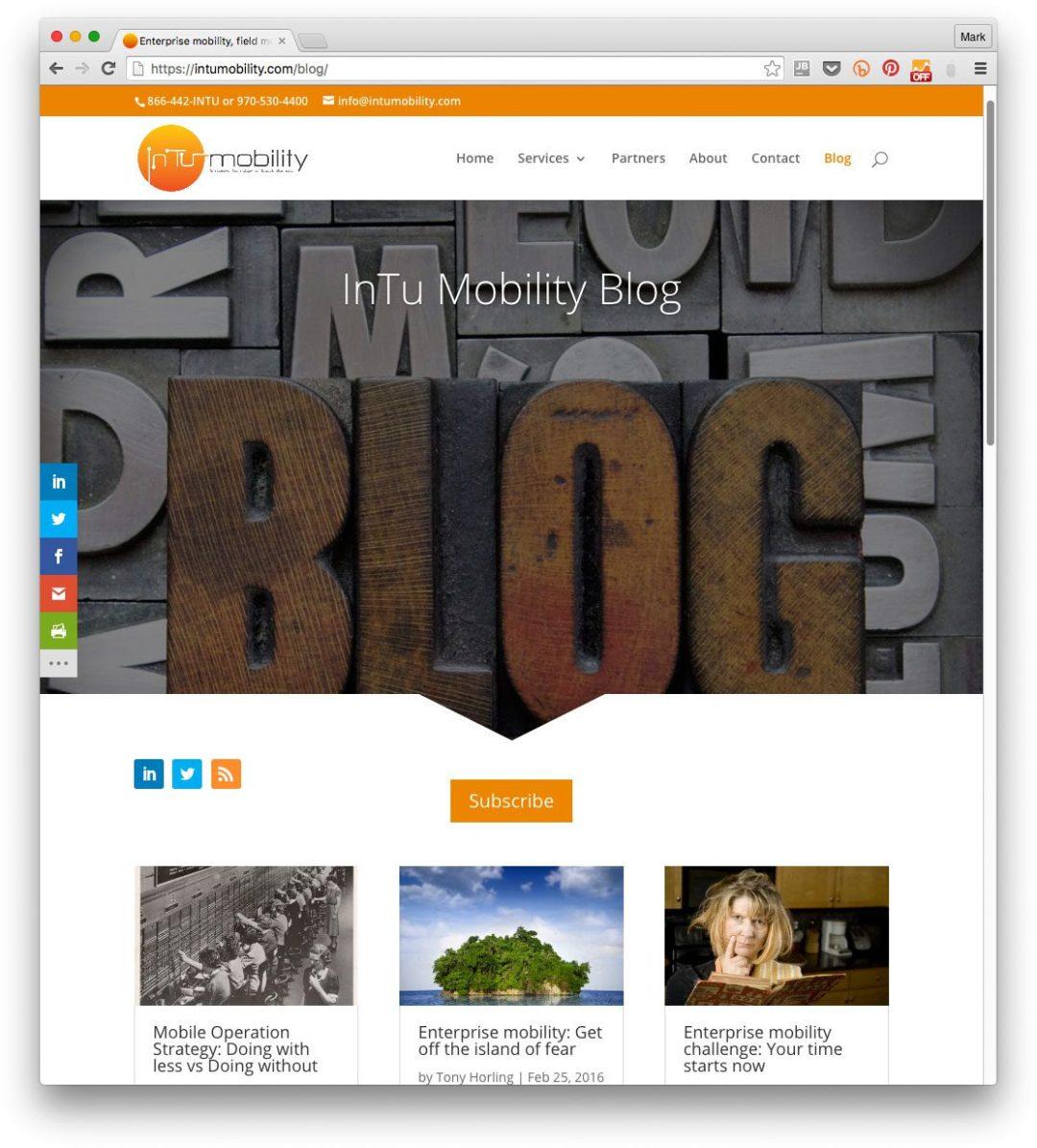 Enterprise mobility blog for InTu Mobility