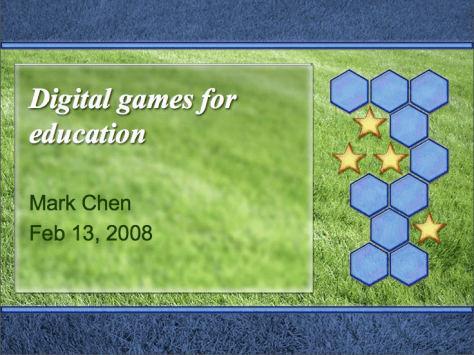 Games literacy PowerPoint