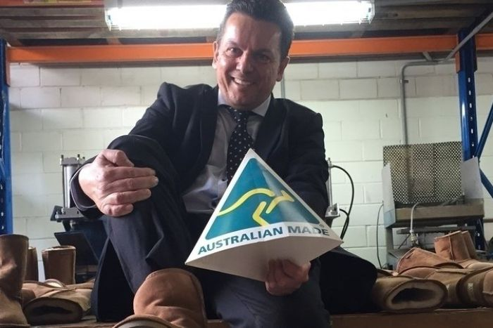 Nick Xenophon in UGG boots