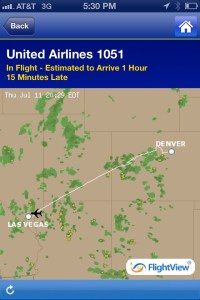 United Mobile App Flight Location View