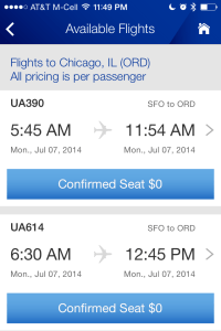 United Airlines flight change available flights