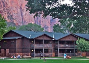 The lodge and grounds in Zion National Park