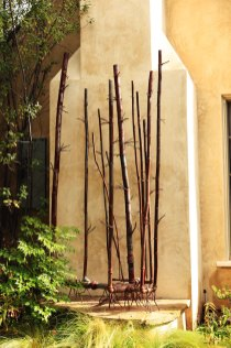 Bamboo #11 - Steel, Stainless Steel, Copper, Found plumbing, air, and gas parts.