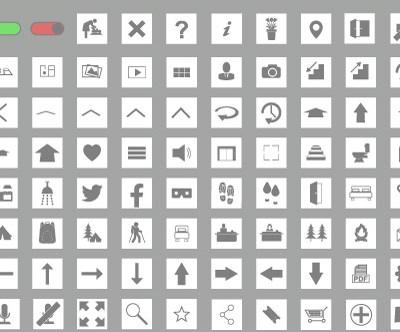 MacNimation Square Set – Grey on White