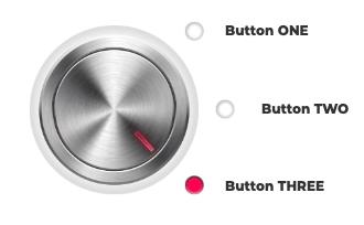 3D rotary knob (red)
