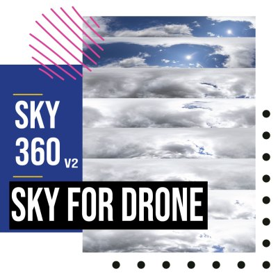sky dome or edit drone shot photography 360 V2