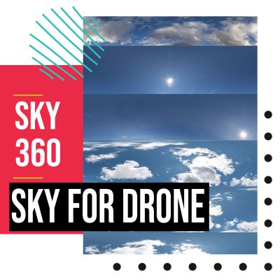 sky dome or edit drone shot photography 360