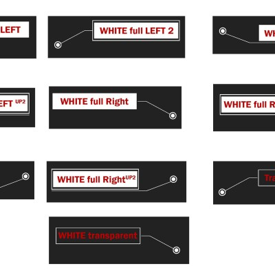 10 White (right and left) Animated call outs (Photoshop editable)