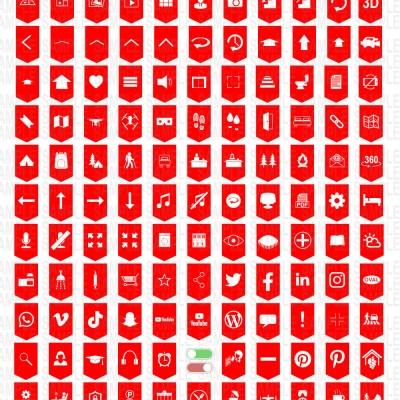 MacNimation - 140 Basic Banner hotspots - Red