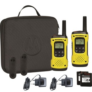 Portable PMR radio station Motorola TLKR T92 H2O IP67 set with 2 pcs Yellow