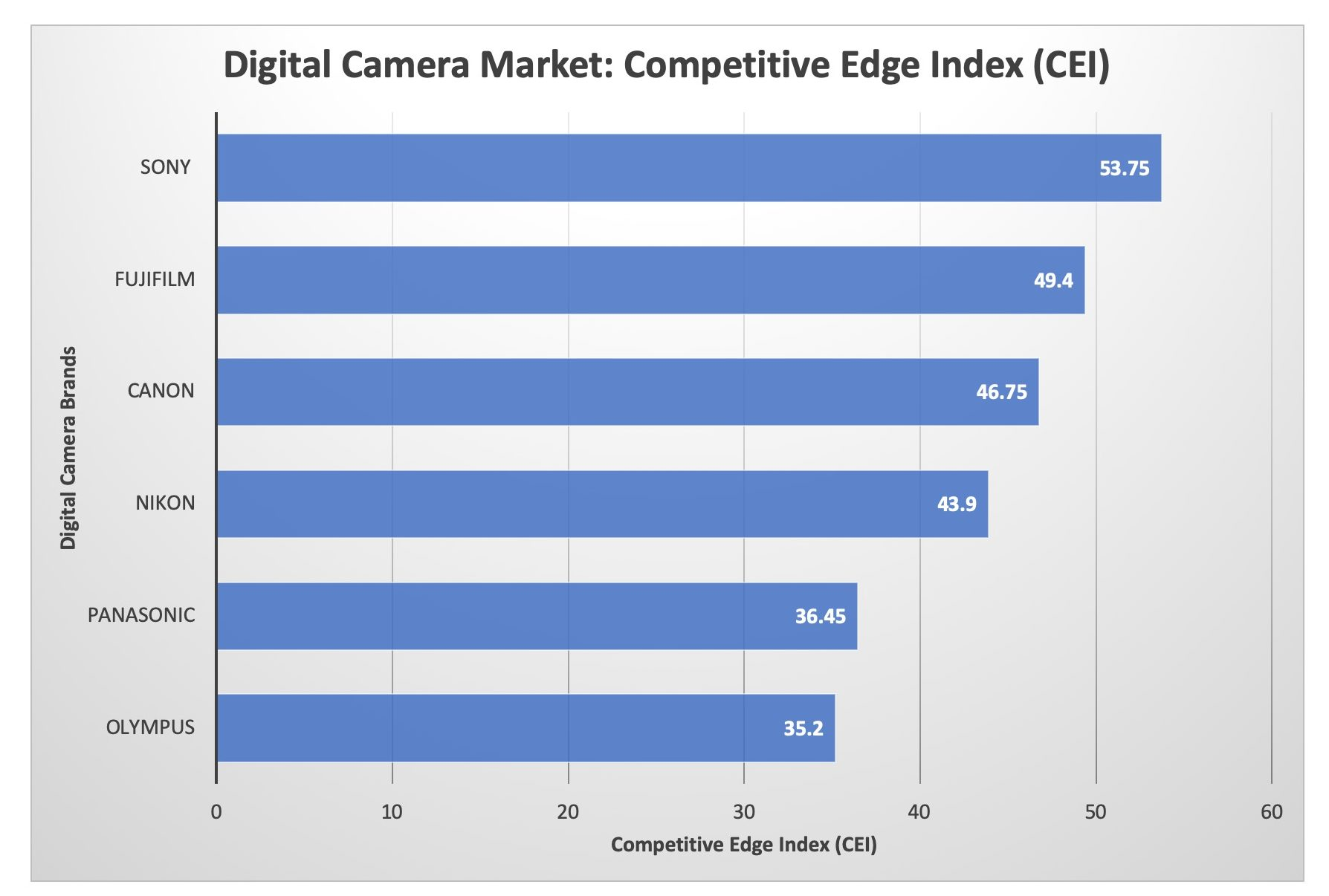 Digital Camera Market: Competitive Edge Index