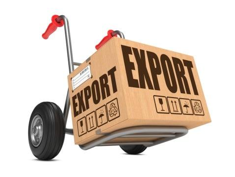 Export - Cardboard Box on Hand Truck.