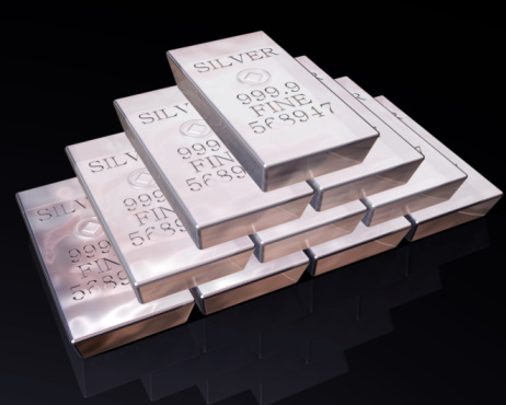Stack of Silver bars