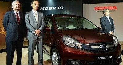 Honda Mobilio launch in India
