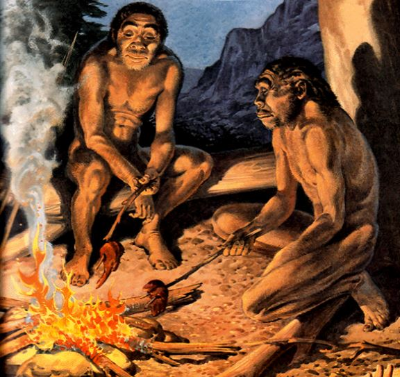 Ancestral humans using fire