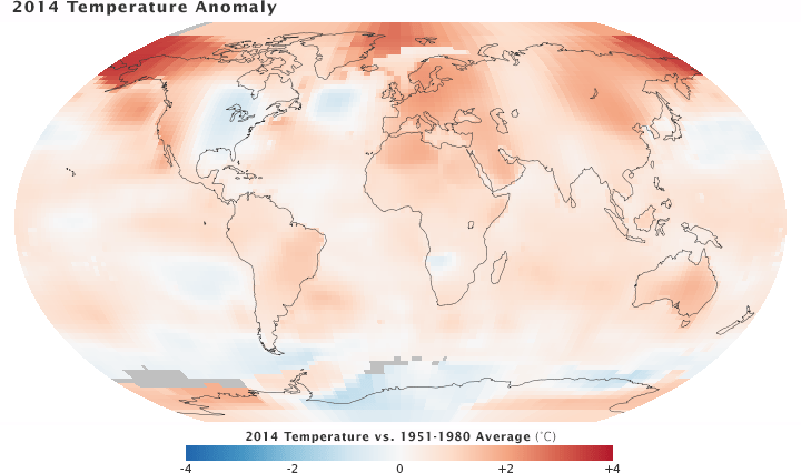 2014 temperature anomaly