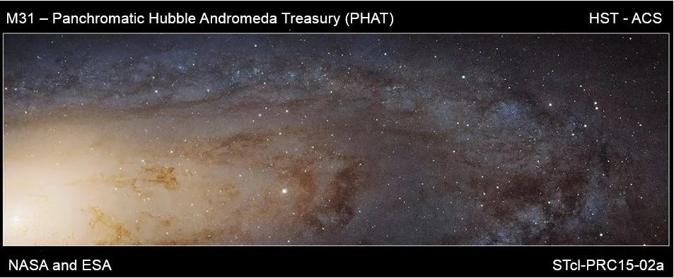 Andromeda image Hubble Space Telescope