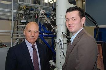 Sir Patrick Stewart and Dr Jonathan Hinks